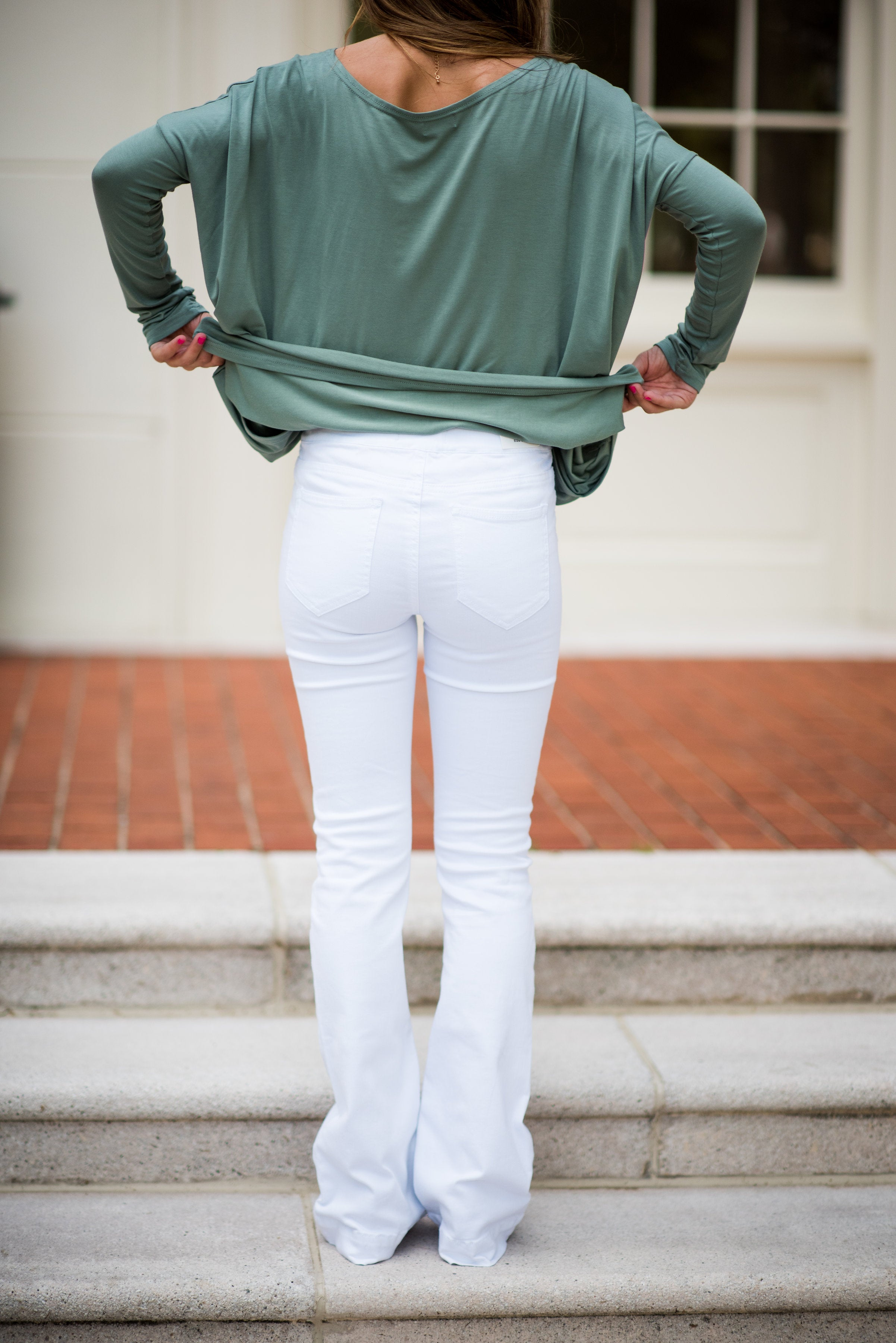 White Lies Mid Rise Flare Jeggings