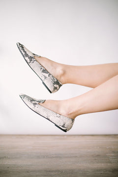 Way About You Flats in Snakeskin