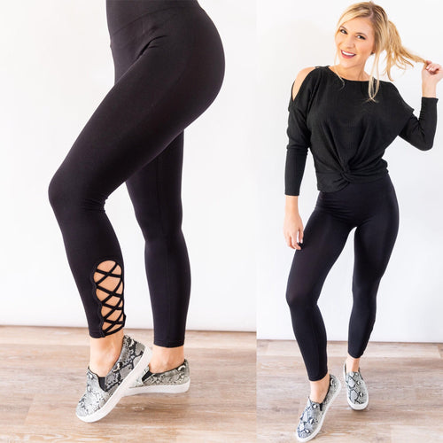 Work It Out Leggings in Black