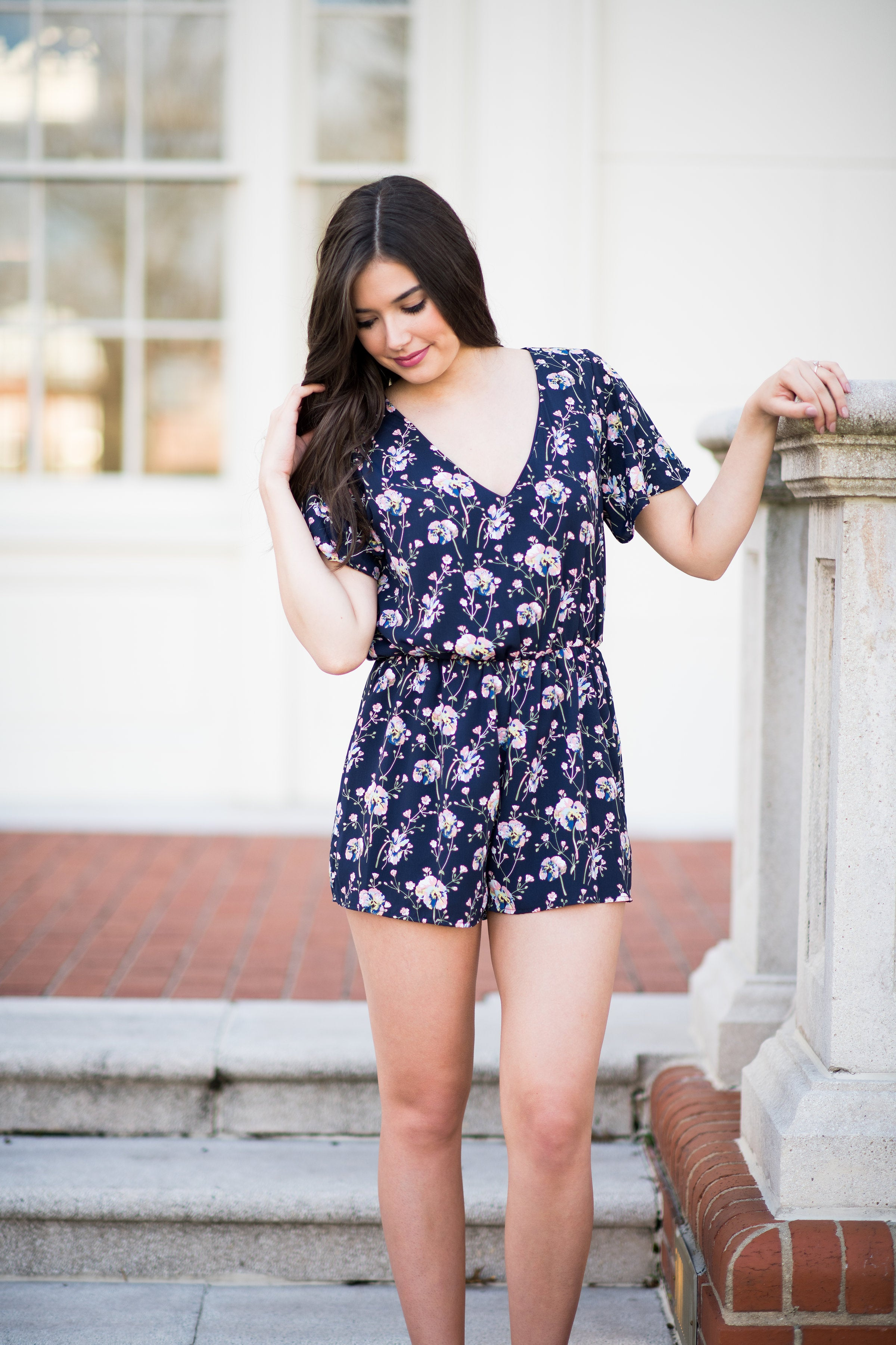 Spring Has Sprung Romper with Flutter Sleeves