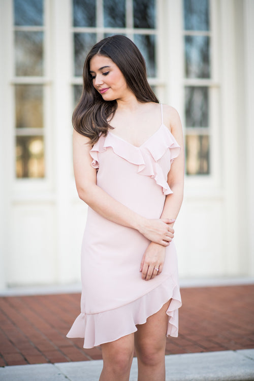 Sweet Spring Time Ruffle Dress