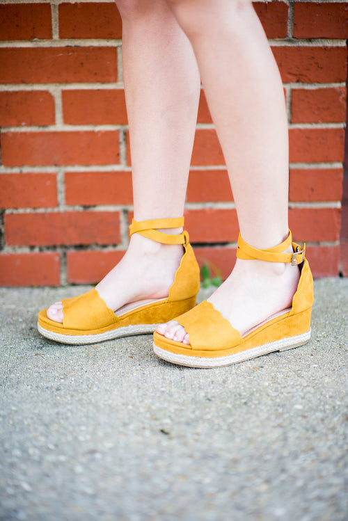 Soak Up the Sun Wedges:  Mustard