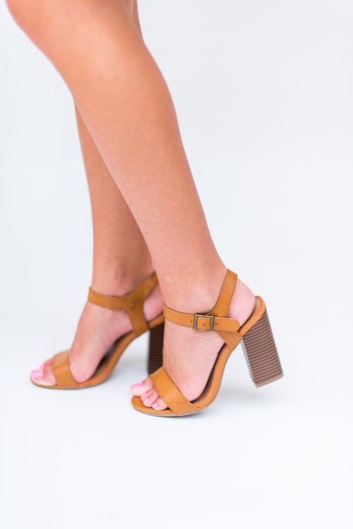 The Story Never Ends Chunky Heels: Natural