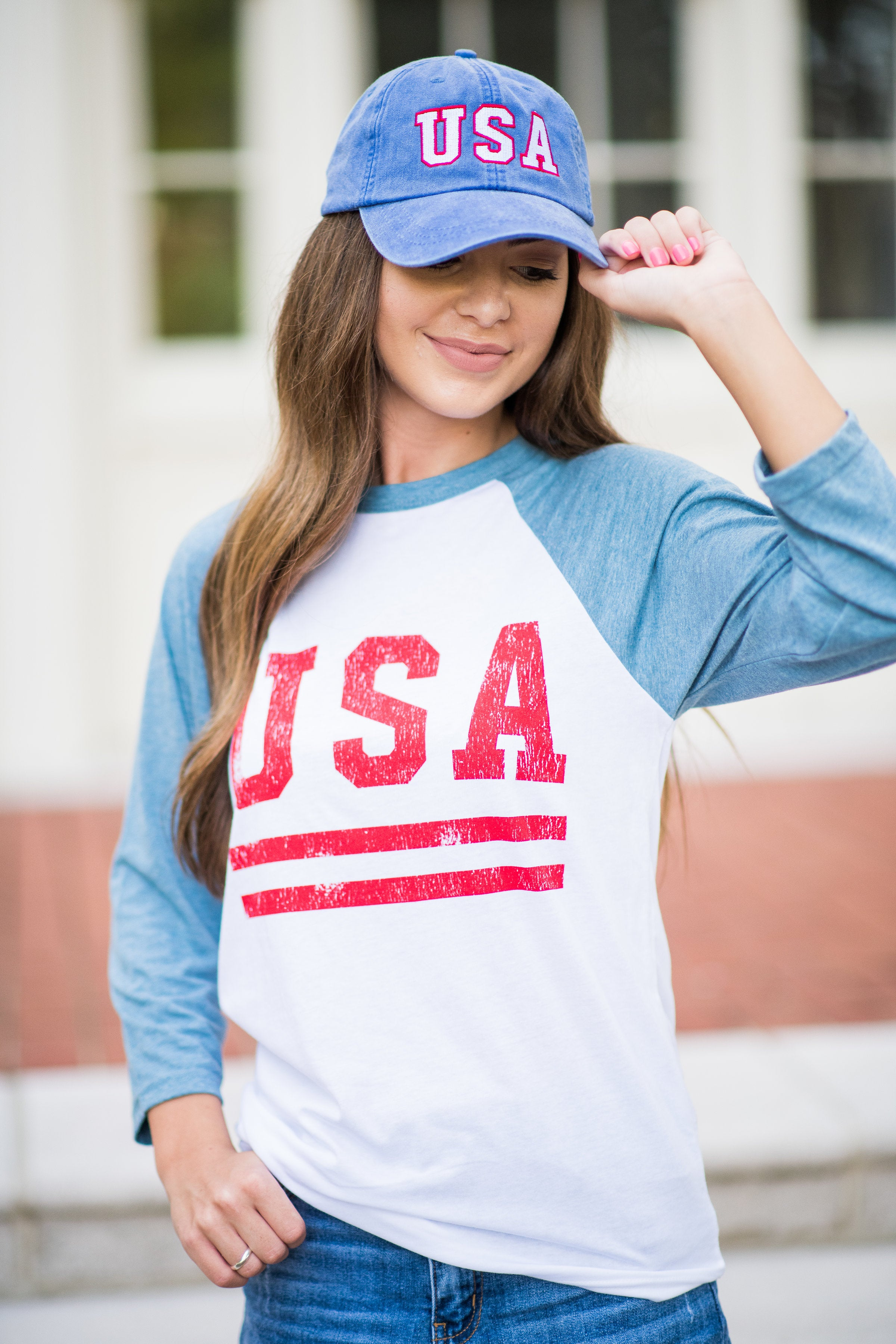 Friday + Saturday USA Embroidered Hat