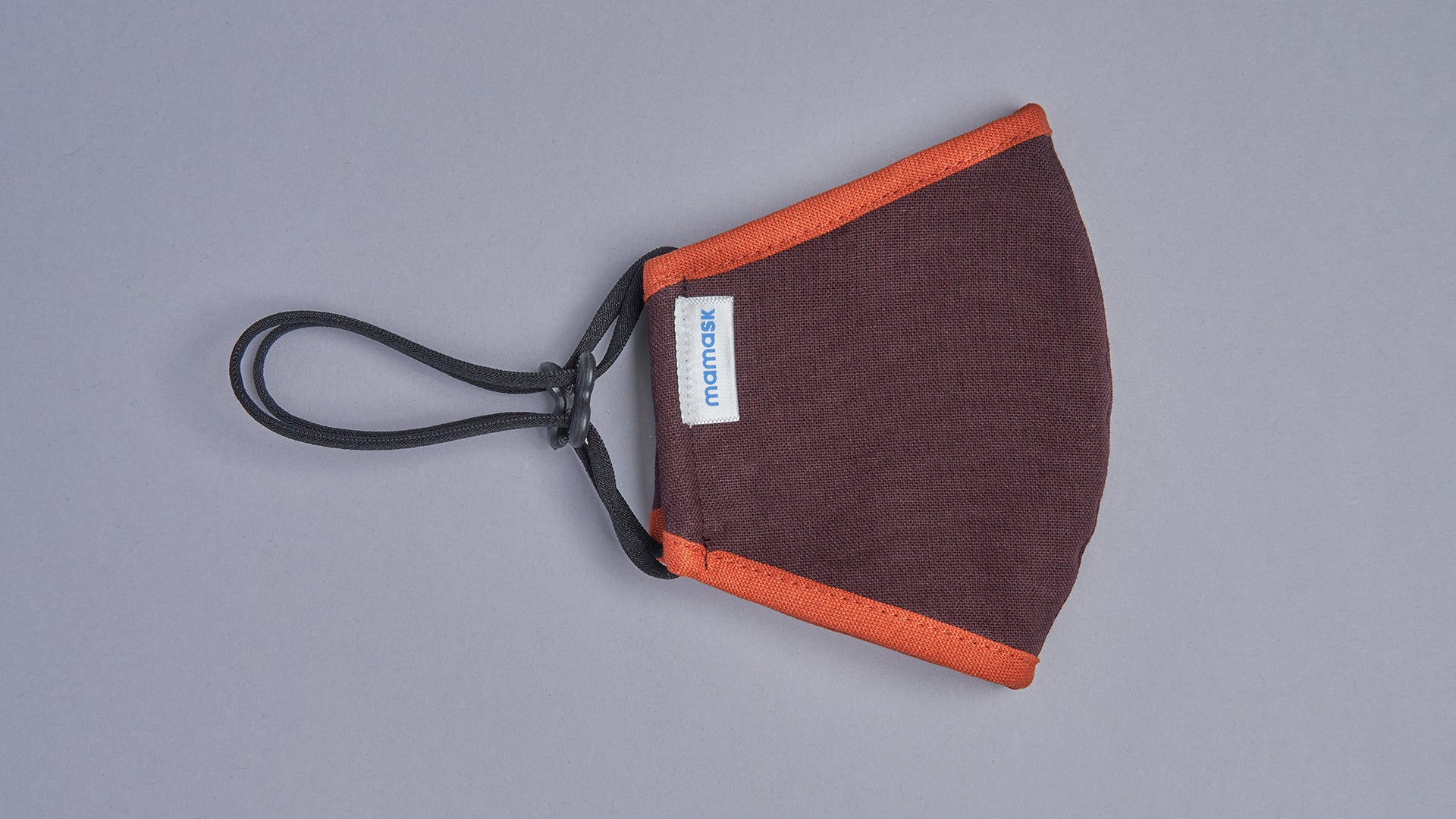Mocha Brown (Fall Orange Piping) - Mamask
