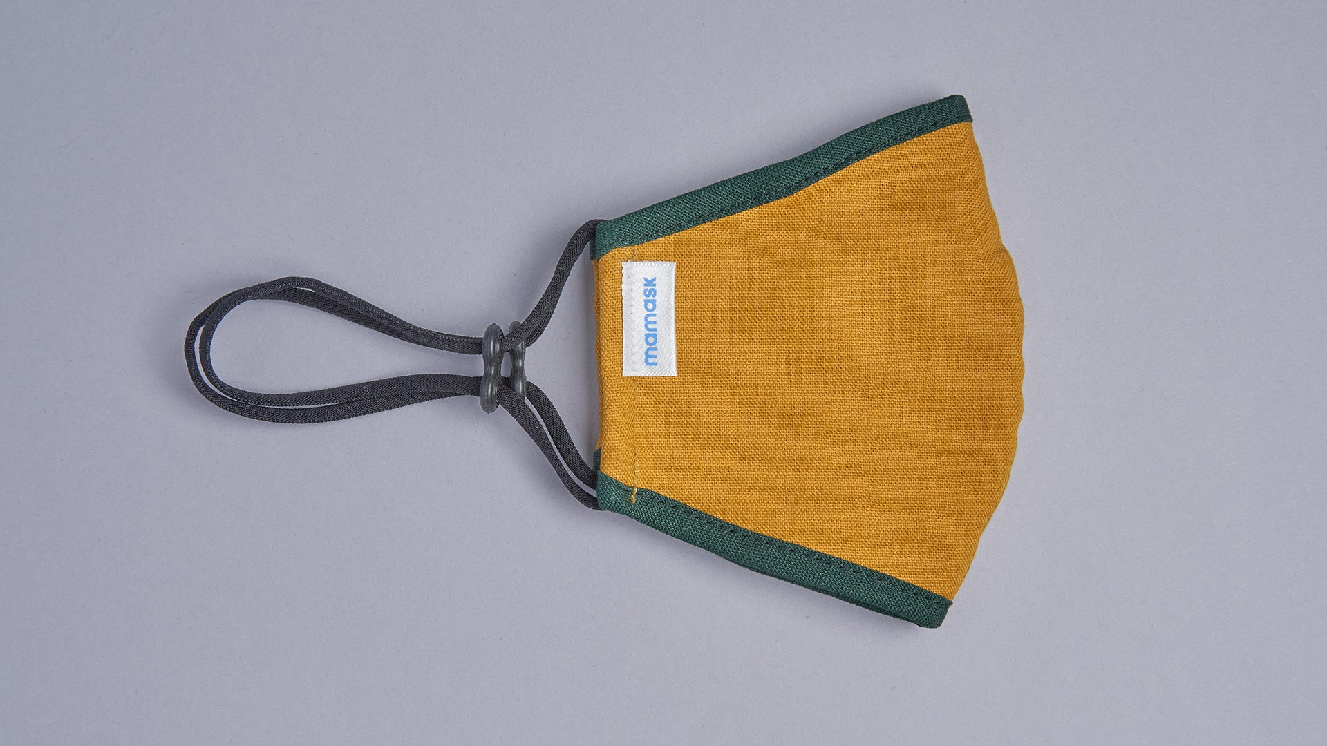 Gold Mustard (Pine Green Piping) - Mamask