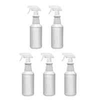 5 Pack 32 Oz Heavy Duty HDPE Spray Bottles w/ Adjustable Trigger Sprayer Nozzle