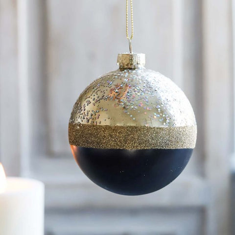 2 Tone Black Bauble