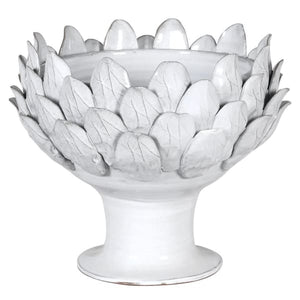 White Ceramic Artichoke Bowl