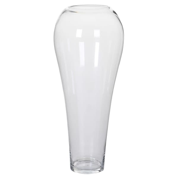 Tall Tapered Glass Vase
