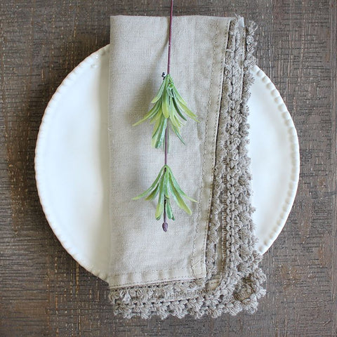 Set of 4 Napkins - Taupe
