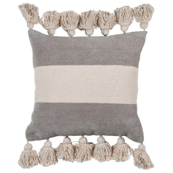 Striped Tassel Cushion