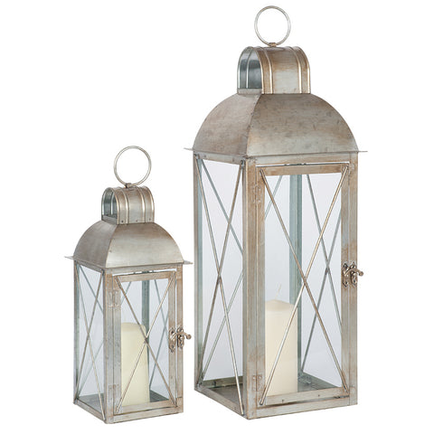 Antique Silver Lanterns Pair