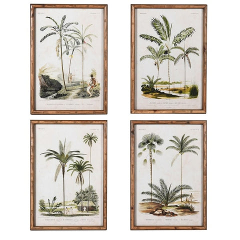 Set of 4 Palm Tree Pictures