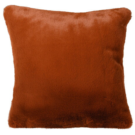 Burnt Amber Faux Fur Cushion