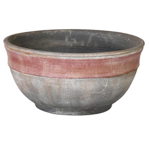 Red Band Ceramic Bowl