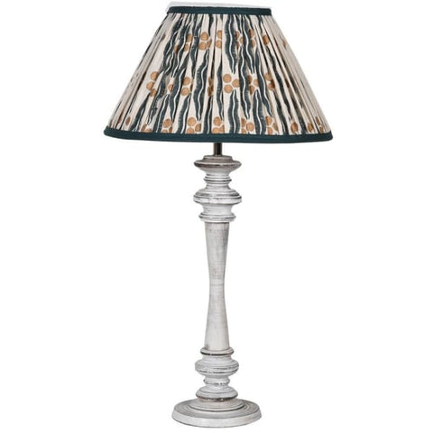 Wash Wood Lamp with Ikat Shade
