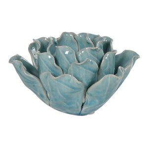 Blue Leaves Candleholder
