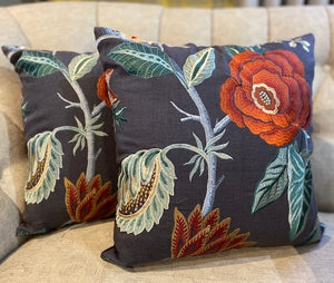 Cushions in GP & J Baker Fabric