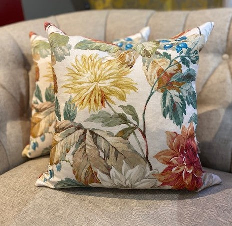 Cushions in Sanderson Fabric