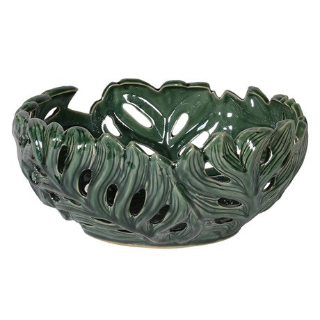 Green Leaf Ceramic Bowl