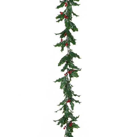 Green Holly Garland