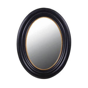 Black and Gold Oval Mirror