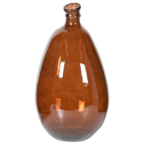 Dark Brown Bottle Vase
