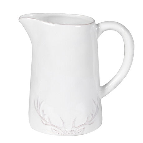 White Antler Ceramic Jug