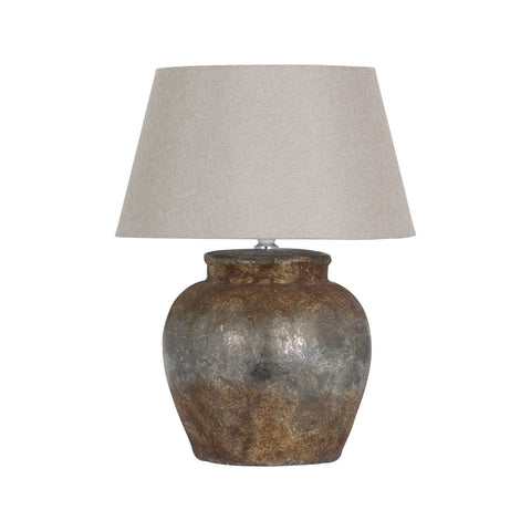Aged Stone Table Lamp