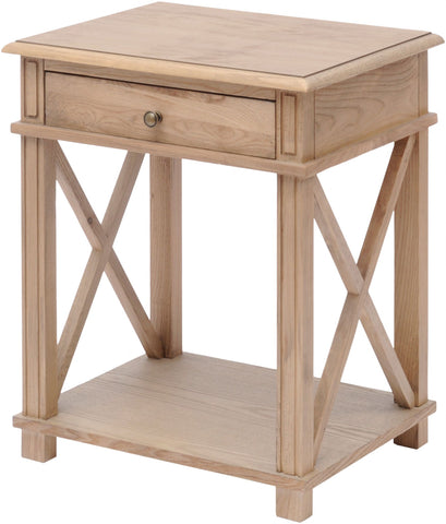 Natural Ash Bedside Table