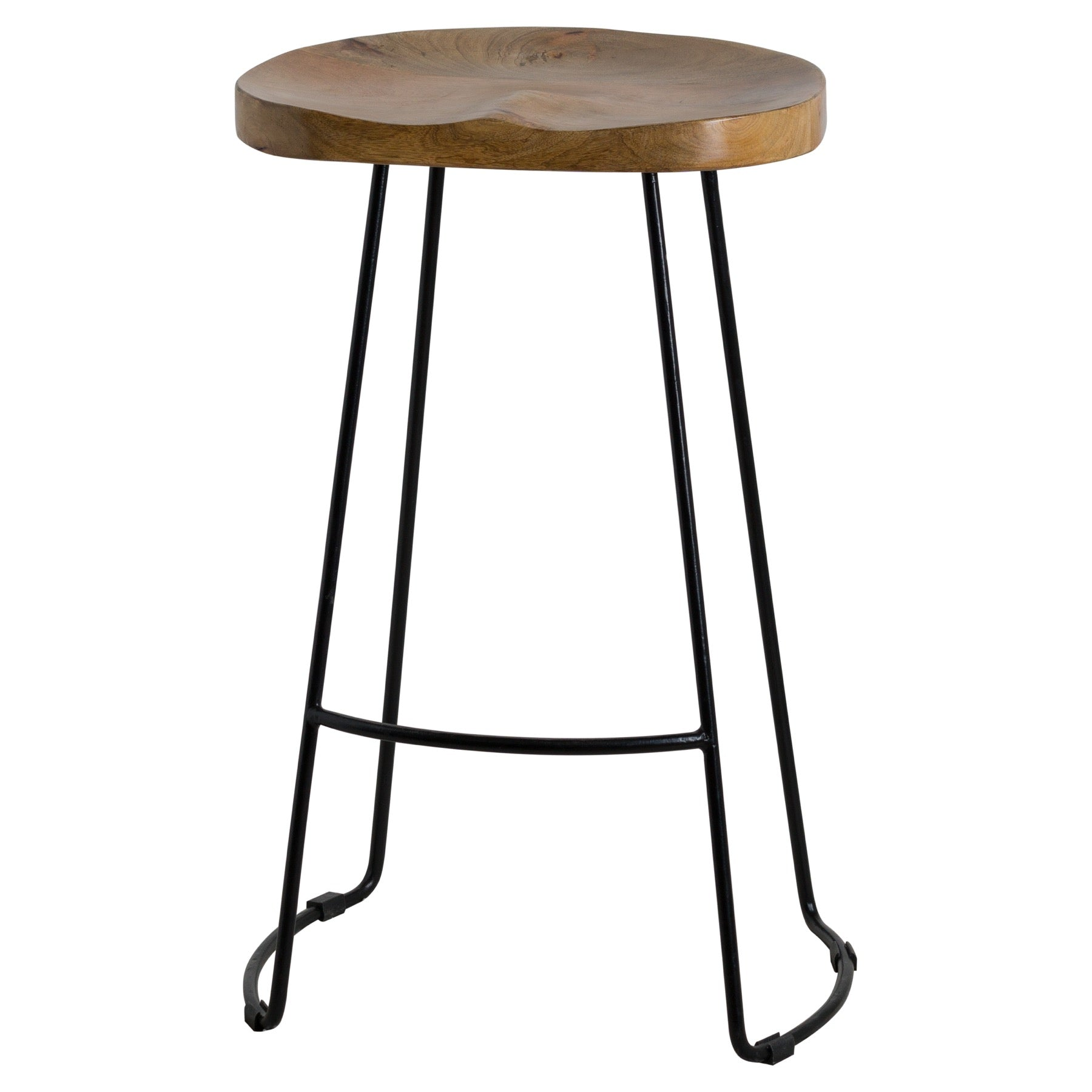 Franklin Hardwood Shaped Barstool