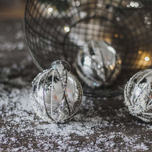 Silver Encrusted Bauble