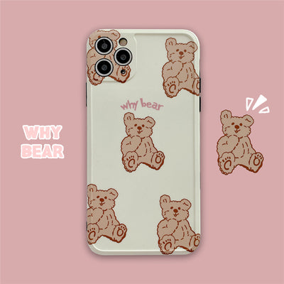 iPhone Teddy Bear Pattern Silicone Case | Xilo Gear