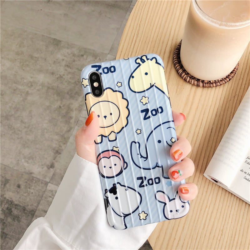 iPhone Cartoon Animals Pattern Case | Xilo Gear