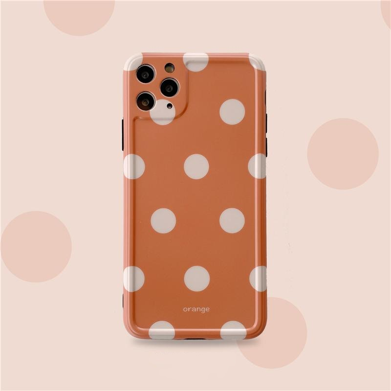 iPhone Orange Pokka Dots Case | Xilo Gear