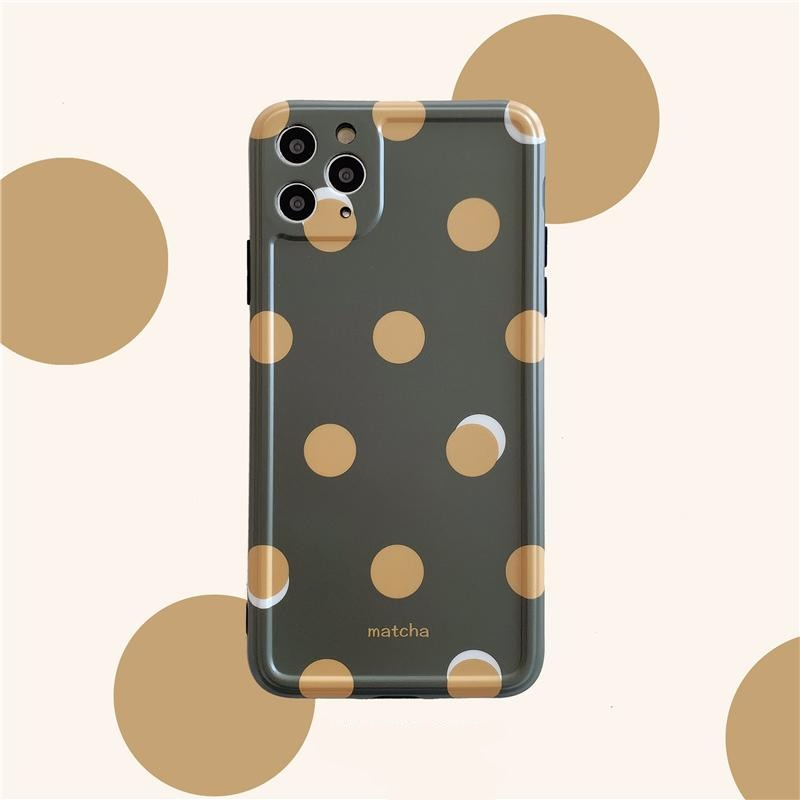 iPhone Green Pokka Dots Case | Xilo Gear