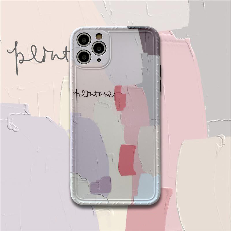 iPhone Abstract Painting Pattern Silicone Case | Xilo Gear