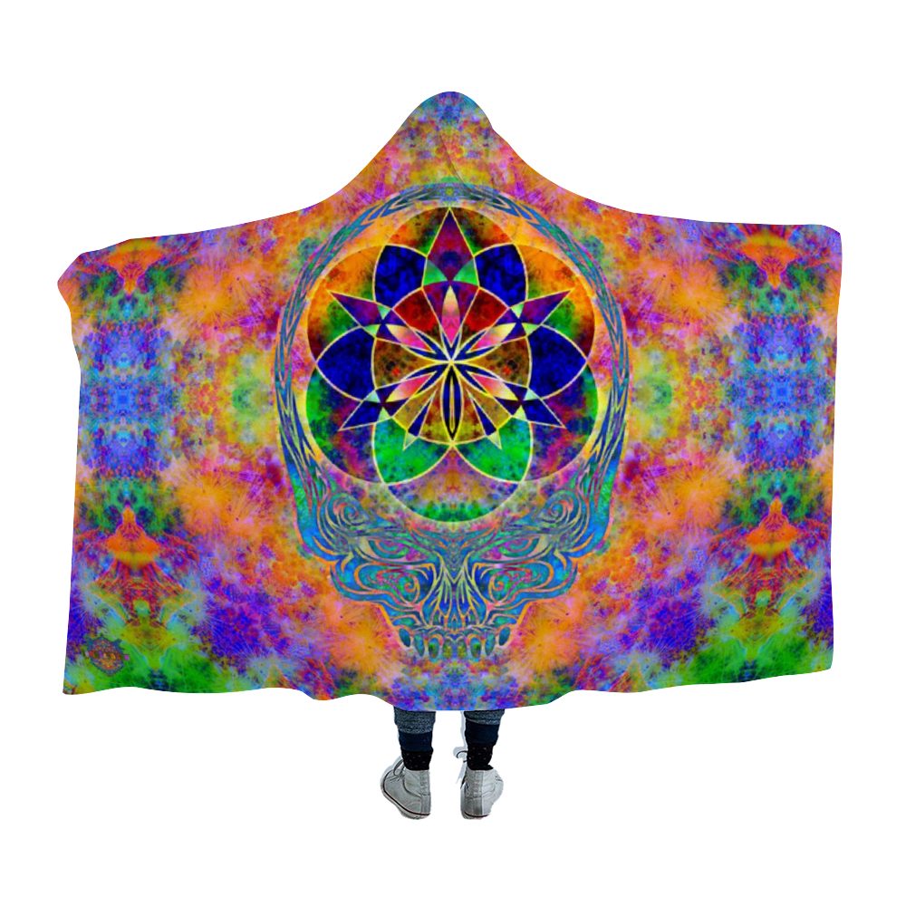 Tie-Die Stealie Hooded Blanket Cloak