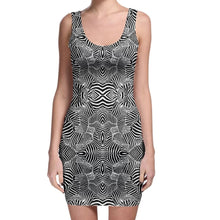 Load image into Gallery viewer, Classic Zebra Bodycon Dress