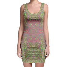 Load image into Gallery viewer, Rainbow Giraffe Bodycon Dress