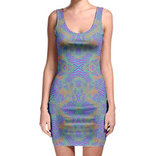 Load image into Gallery viewer, Tie-Die Zebra Bodycon Dress