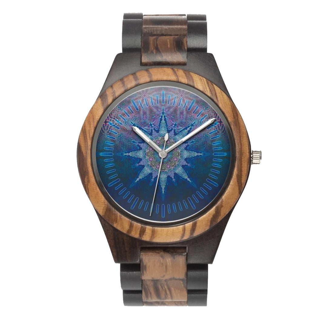 Atlas Mandala Wood Watch