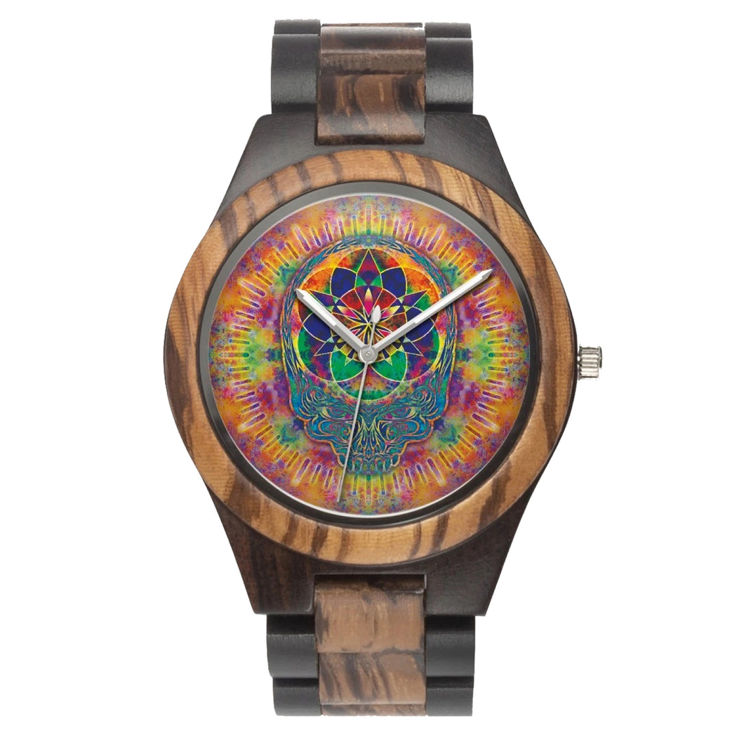 Stealie Seed of Life Wood Watch