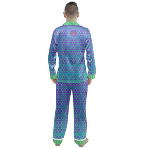 Flower of Life Men's Satin Pajamas