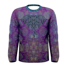 Load image into Gallery viewer, Purple Elephant Long Sleeve Tee