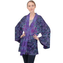 Load image into Gallery viewer, Purple Octopus Velvet Kimono Robe