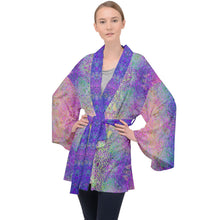 Load image into Gallery viewer, Pink Paisley Velvet Kimono Robe