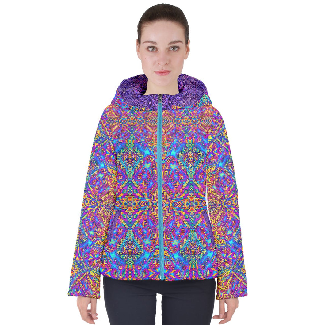 Psy Aztek Women's Hooded Puffer Jacket