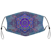 Load image into Gallery viewer, Crown Chakra Face Mask w/ 2 Filters